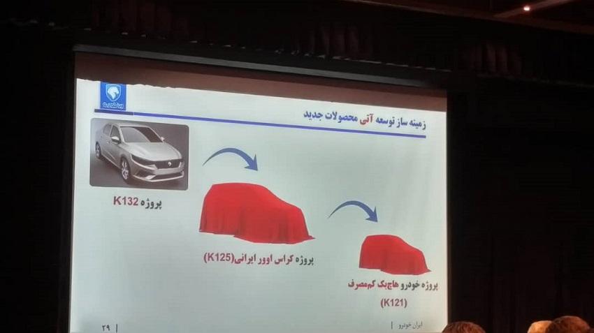 محصولات جدید ایران خودرو درآینده