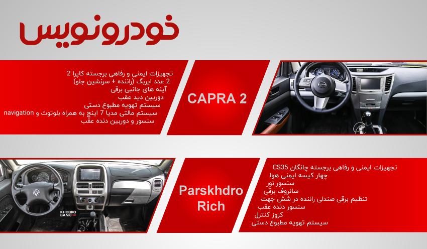 کابین کاپرا2 و پیکاپ ریچ